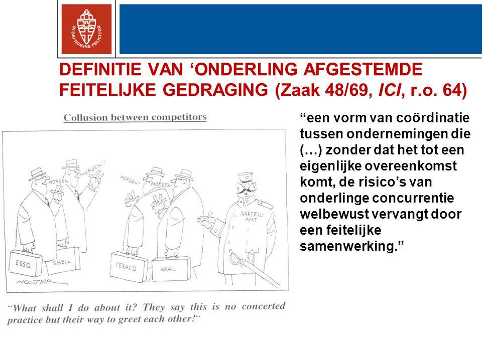 DEFINITIE VAN 'ONDERLING AFGESTEMDE FEITELIJKE GEDRAGING (Zaak 48/69, ICI, r.o.
