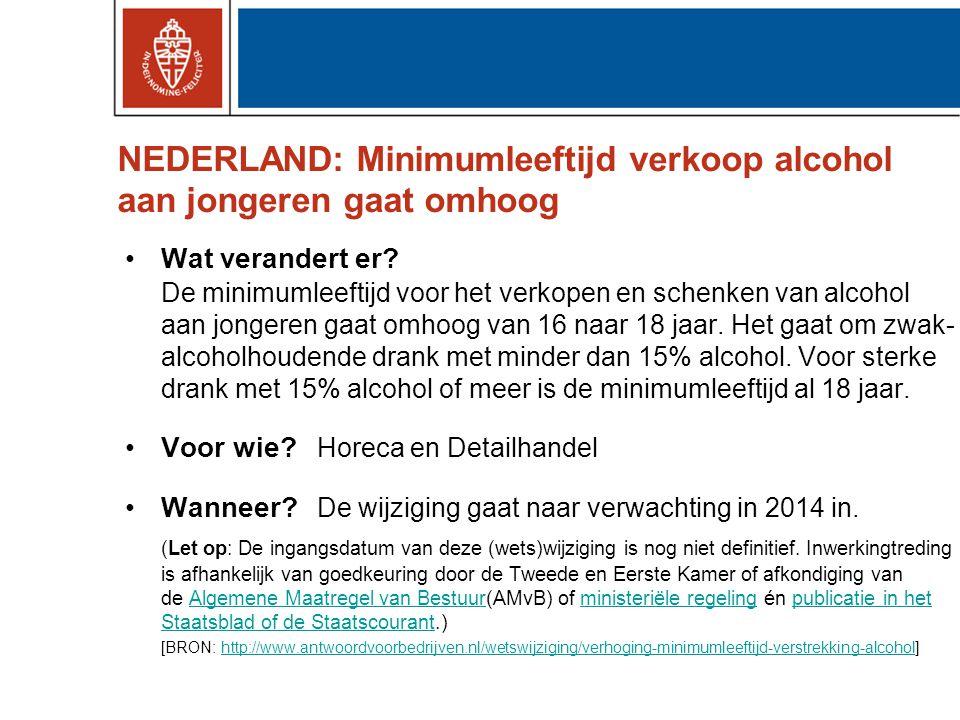 NEDERLAND: Minimumleeftijd verkoop alcohol aan jongeren gaat omhoog •Wat verandert er.