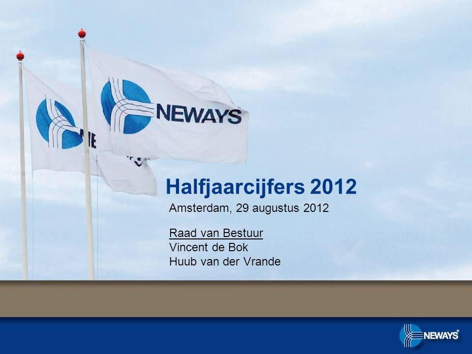 Halfjaarcijfers 2012 Amsterdam, 29 augustus 2012 Raad van Bestuur Vincent de Bok Huub van der Vrande