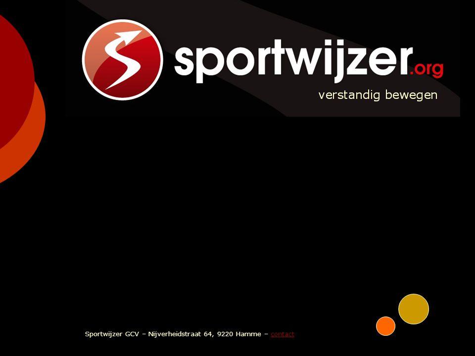 SPORTWIJZER verstandig bewegen Sportwijzer GCV – Nijverheidstraat 64, 9220 Hamme – contactcontact