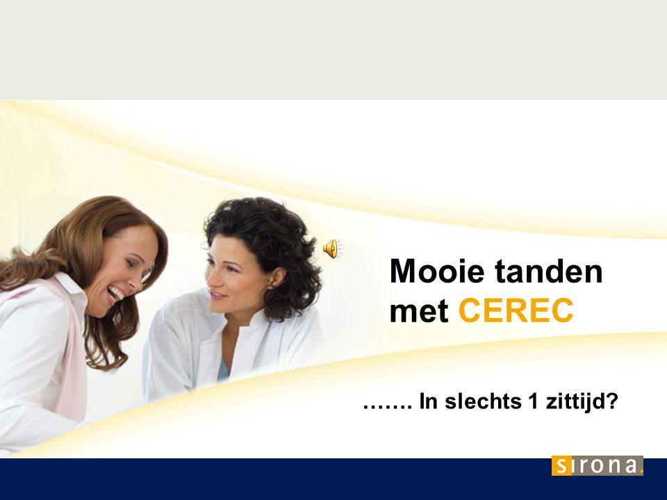 Met CEREC - Geen afdruk met pasta, geen voorlopige kronen, geen tijdverlies Een CEREC behandeling betekent voor U: Geen afdruk De geprepareerde tand wordt met de cerec 3D kamera in een paar minuten digitaal gescand.