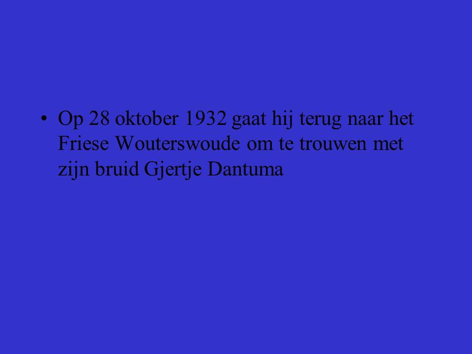 Klaas Dantuma trouwde in 1964 met Antje Dijkstra