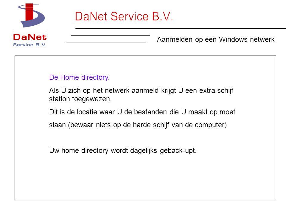 Aanmelden op een Windows netwerk De Home directory.