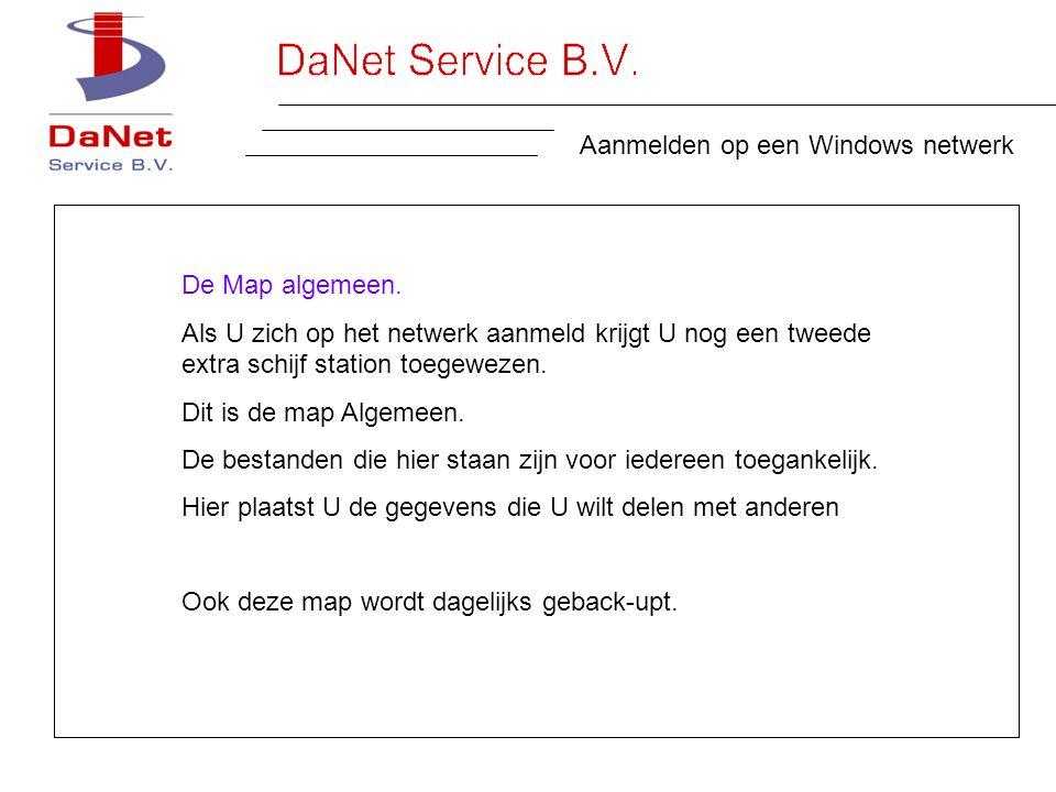 Aanmelden op een Windows netwerk De Map algemeen.