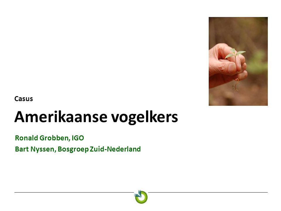 Amerikaanse vogelkers Casus Ronald Grobben, IGO Bart Nyssen, Bosgroep Zuid-Nederland