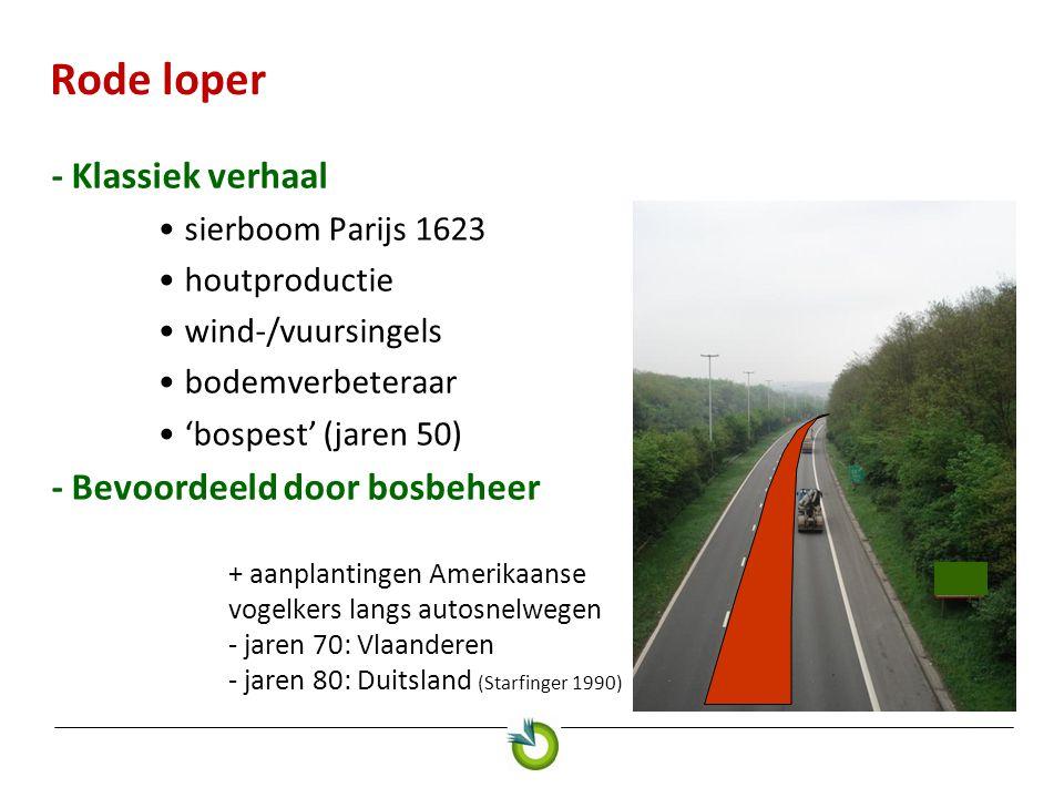 Amerikaanse-vogelkerswijzer Beheerstrategieën 4.Is de gekozen aanpak (weerbaar maken van bos en/of bestrijding) op lange termijn haalbaar, ook financieel.