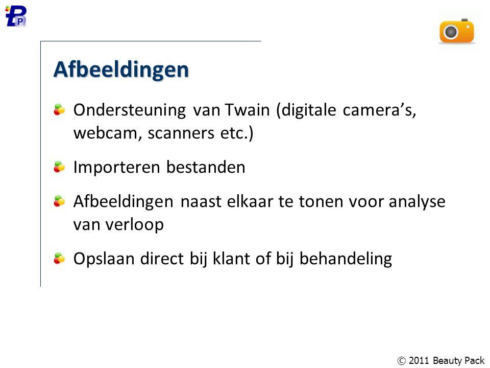 Afbeeldingen Ondersteuning van Twain (digitale camera's, webcam, scanners etc.) Importeren bestanden Afbeeldingen naast elkaar te tonen voor analyse v