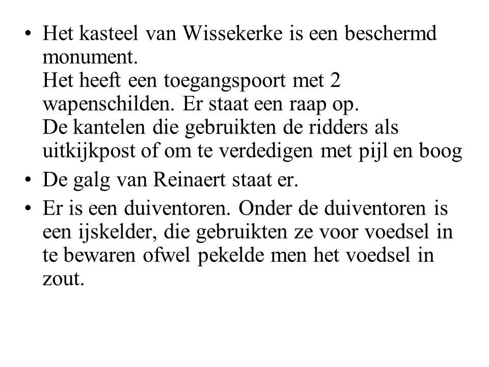 •Het kasteel van Wissekerke is een beschermd monument.