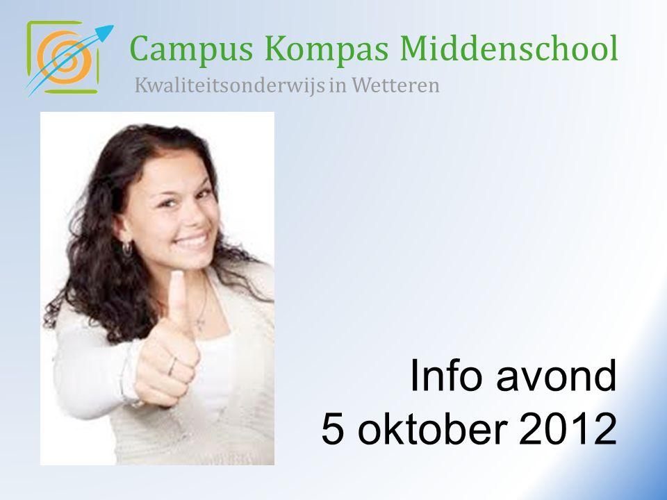 Campus Kompas Middenschool Kwaliteitsonderwijs in Wetteren Info avond 5 oktober 2012