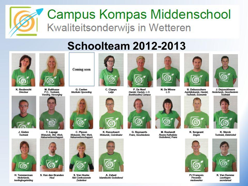 Schoolteam 2012-2013