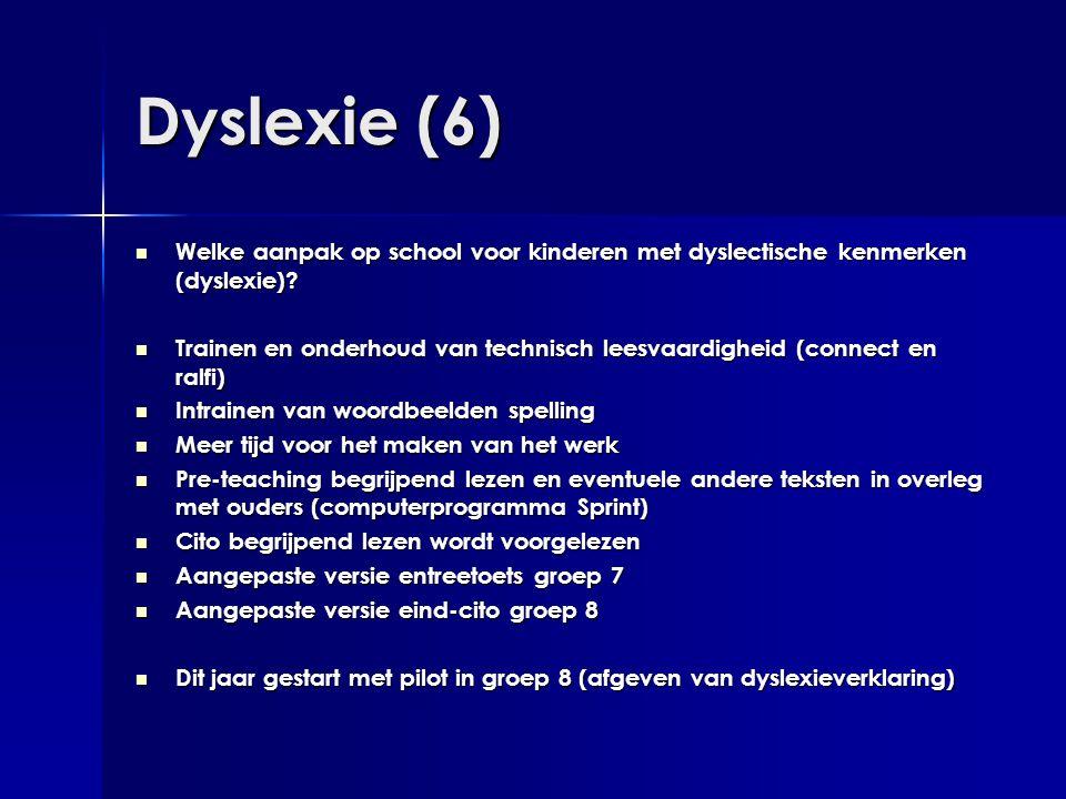 Dyslexie (6)  Welke aanpak op school voor kinderen met dyslectische kenmerken (dyslexie)?  Trainen en onderhoud van technisch leesvaardigheid (conne