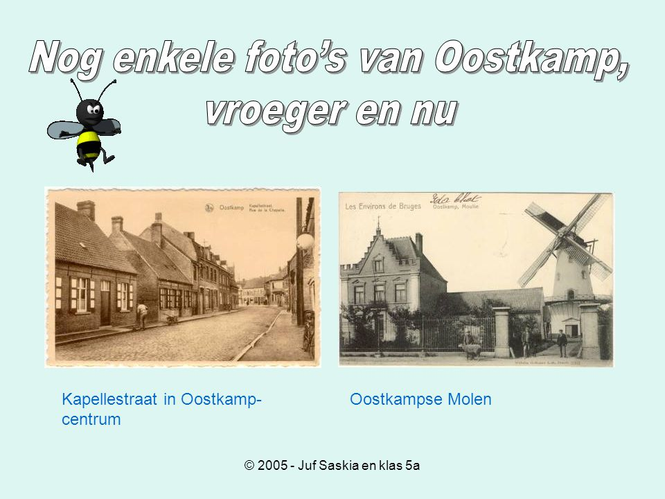 © 2005 - Juf Saskia en klas 5a Kapellestraat in Oostkamp- centrum Oostkampse Molen