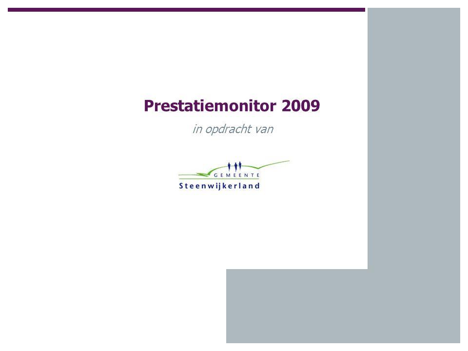 Prestatiemonitor 2009 in opdracht van
