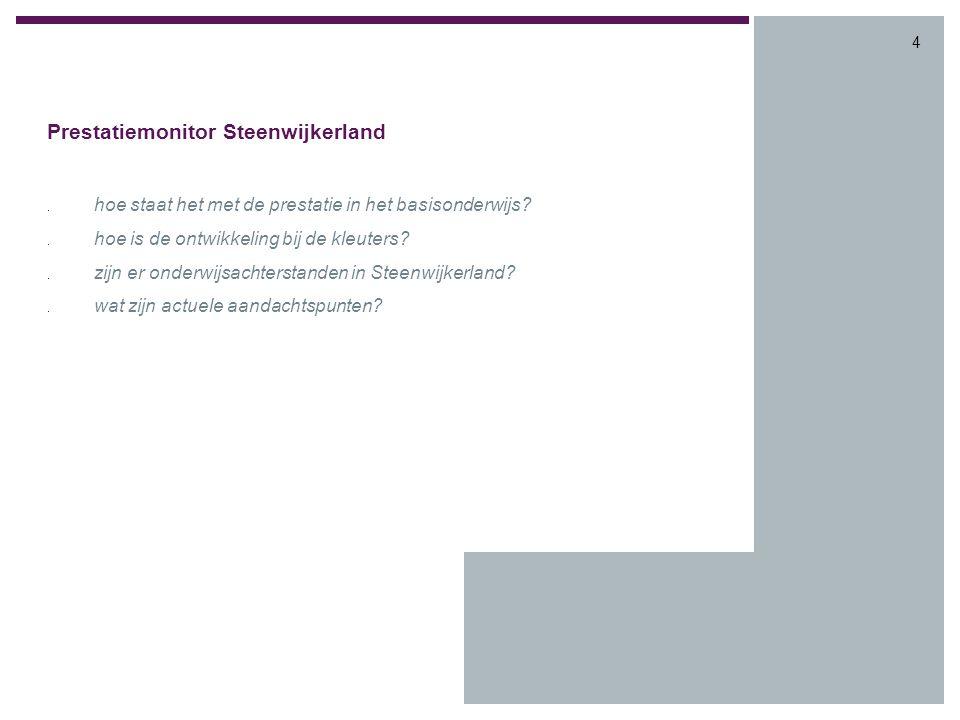 4 Prestatiemonitor Steenwijkerland. hoe staat het met de prestatie in het basisonderwijs .