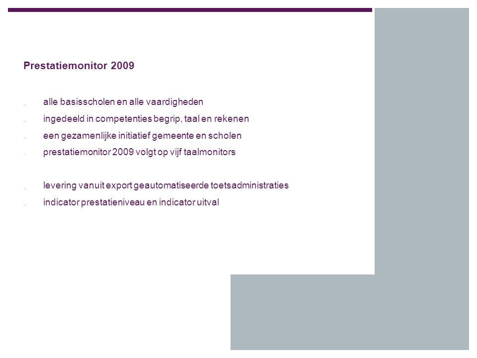 Prestatiemonitor 2009. alle basisscholen en alle vaardigheden.