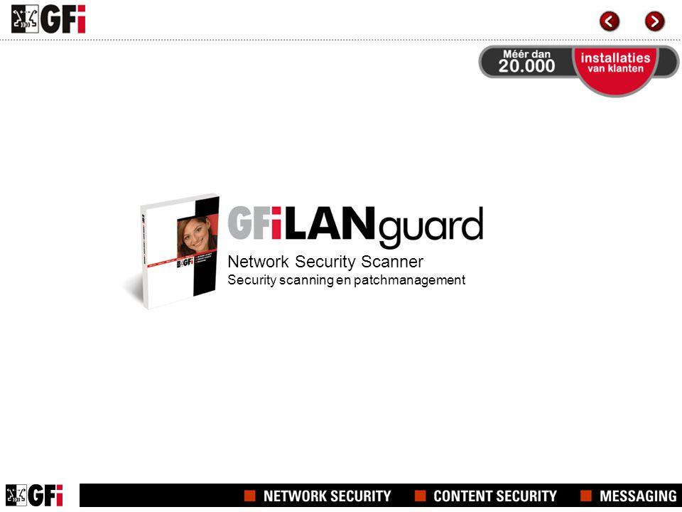 GFI LANguard Network Security Scanner hoofdscherm Snapshot van het product
