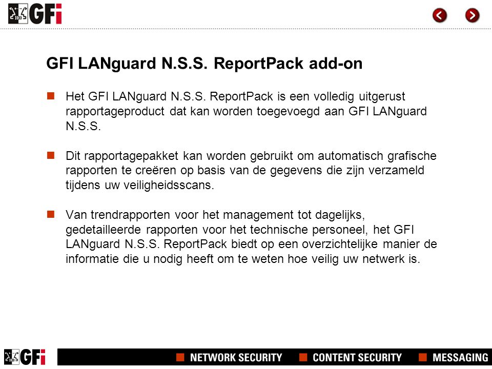 GFI LANguard N.S.S. ReportPack add-on  Het GFI LANguard N.S.S.