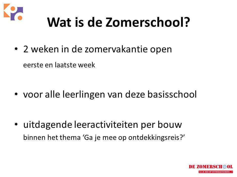 • 4-jarig project van KPO Roosendaal • In het kader van 'onderwijstijdverlenging' • Bekostigd door subsidiegeld van het ministerie