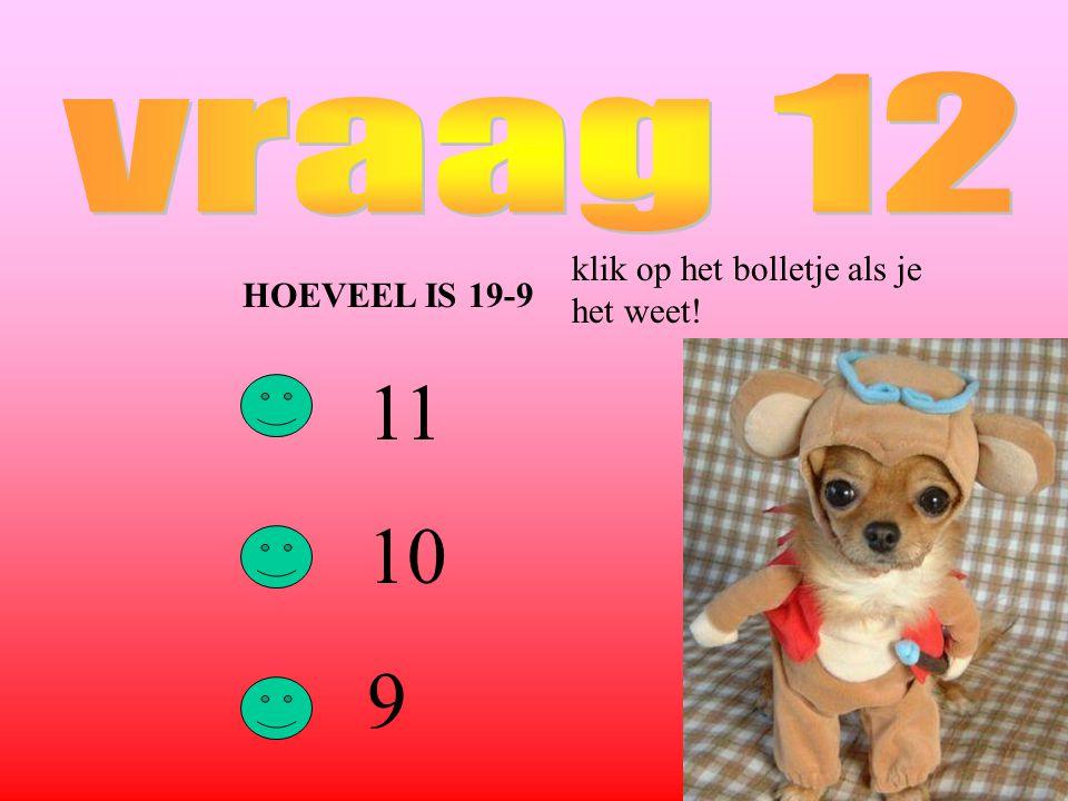 HOEVEEL IS 19-9 11 10 9 klik op het bolletje als je het weet!