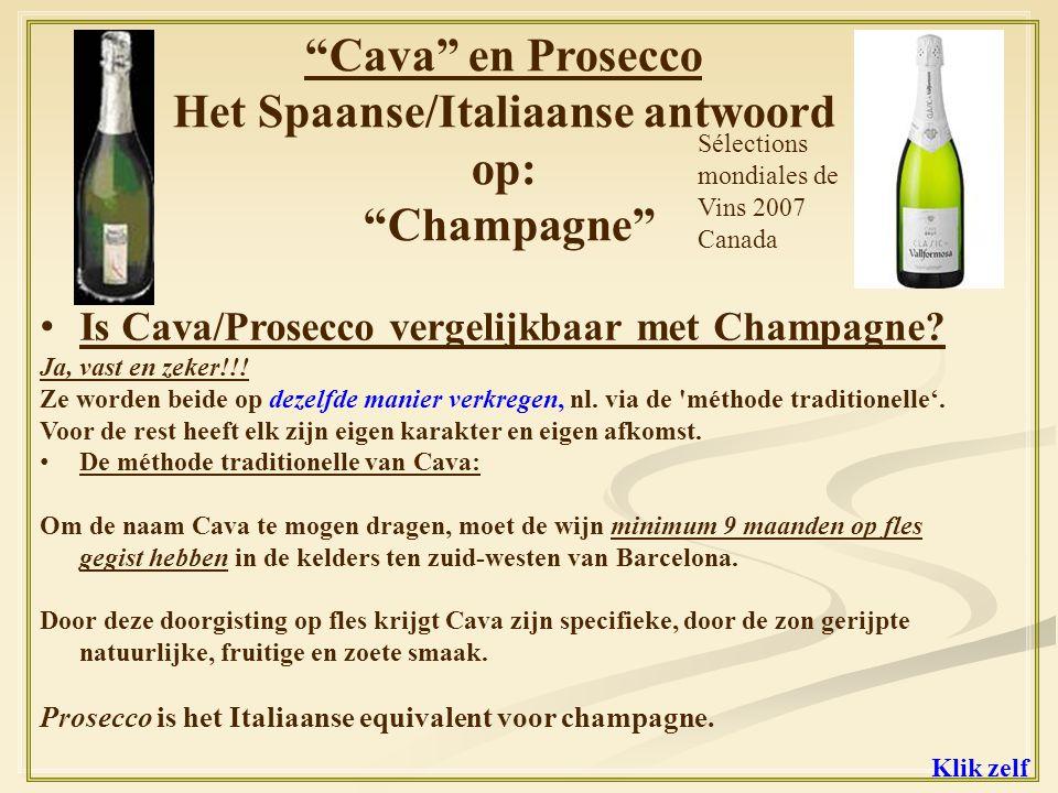 En ze doen dit ook aan enkele van de Italiaanse wijnen uit ons gamma: Vallpolicela Superiore 2006 ---- 84 punten Bardolino 2007 ------------------- 80 punten 1.Wine Spectator deelt punten uit 2.Onze Cava genomineerd in Vino Magazine december 2008 De Cava Vallformosa krijgt de vermelding STERK AANBEVOLEN .