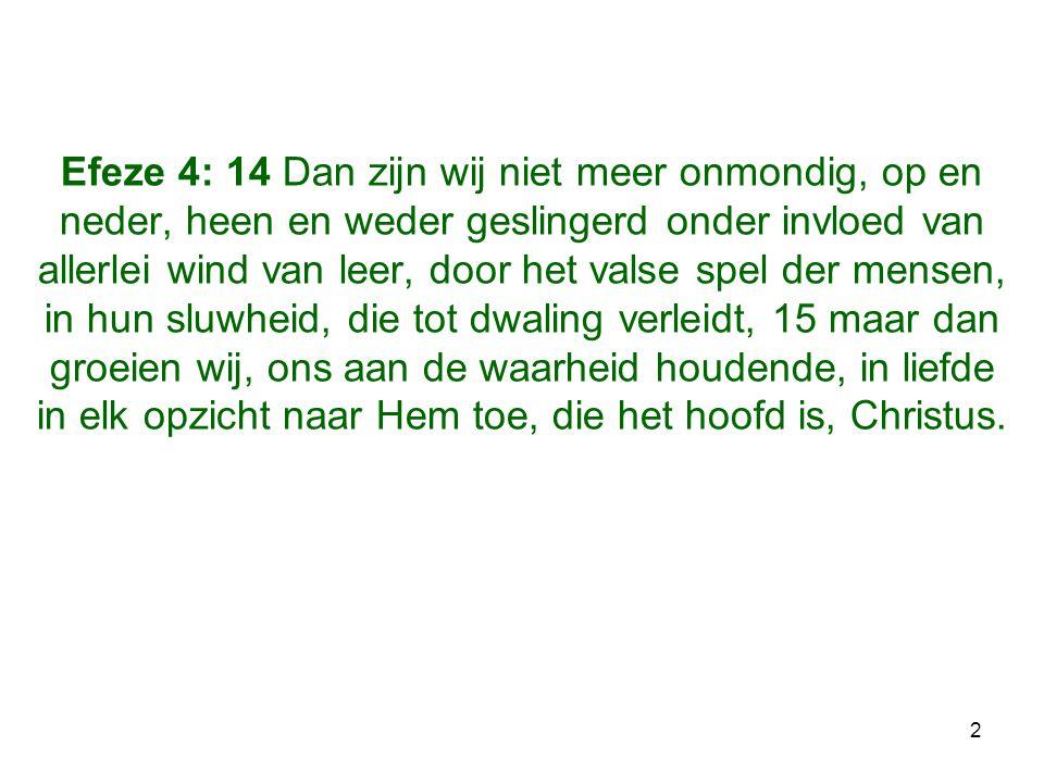 23 DOEL: •NU d.m.v.