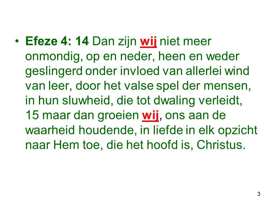 14 Lezen: Jer.31:31-33 Jes.