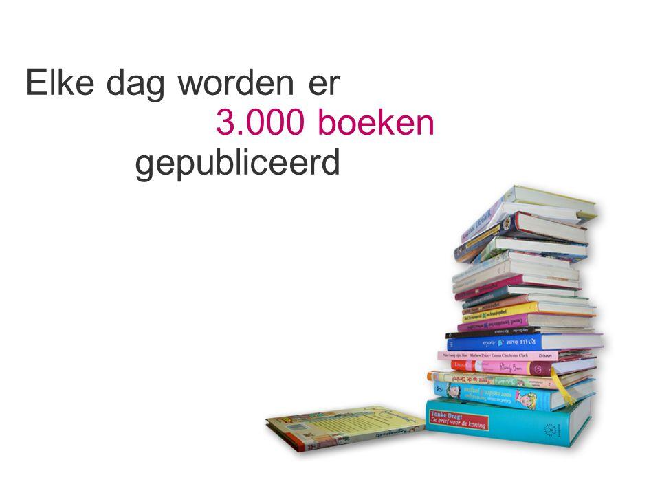 Elke dag worden er 3.000 boeken gepubliceerd