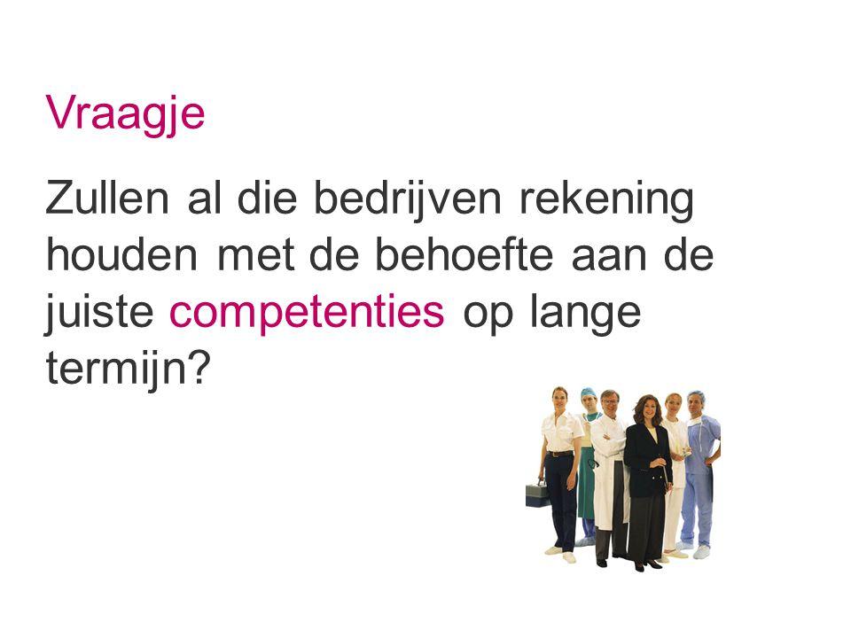 Vraagje Zullen al die bedrijven rekening houden met de behoefte aan de juiste competenties op lange termijn
