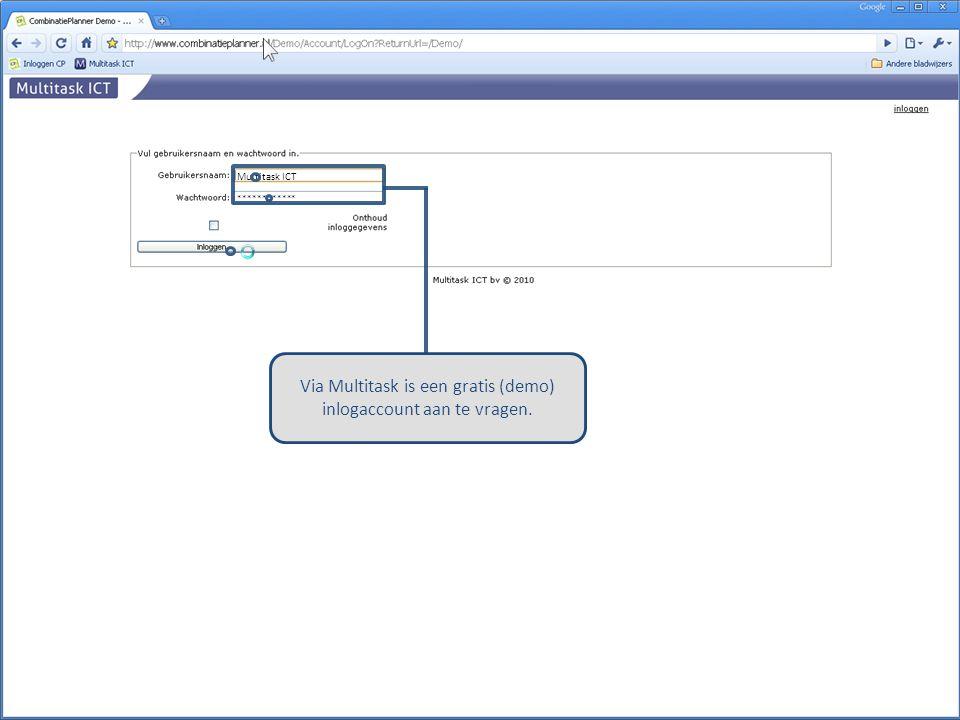 Multitask ICT ************ Via Multitask is een gratis (demo) inlogaccount aan te vragen.