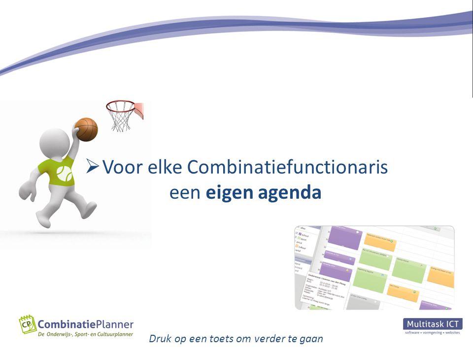  Kort gezegd is de CombinatiePlanner een handig middel om afspraken op eenvoudige wijze te plannen, te evalueren en te sturen.