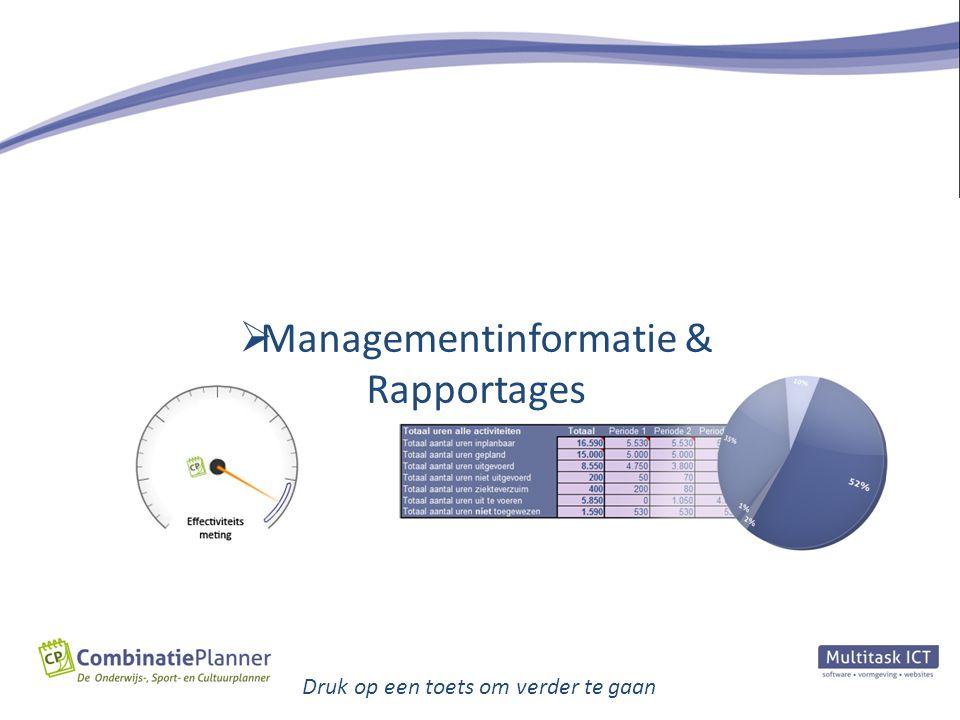  Managementinformatie & Rapportages