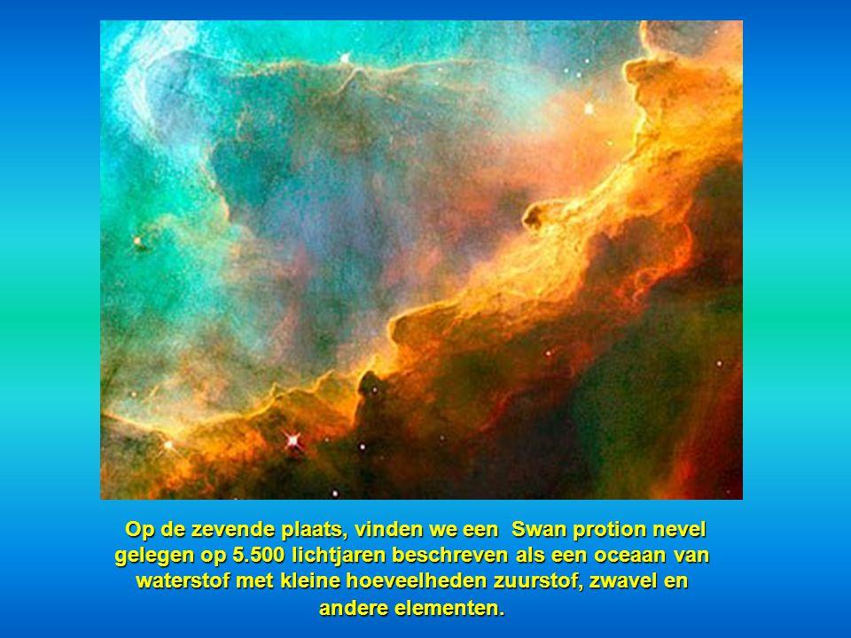 """Op de 6e plaats, hebben we een deel van de """"Cone Nebula"""" op 2,5 lichtjaren"""