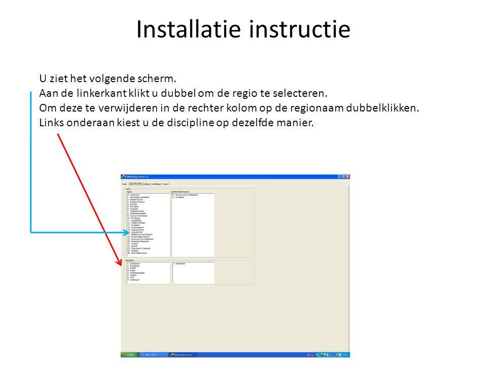 Installatie instructie We gaan nu het programma opstarten. Negeer de melding van het geluidsbestand. Het programma vraagt om een API-Key, hier komen w