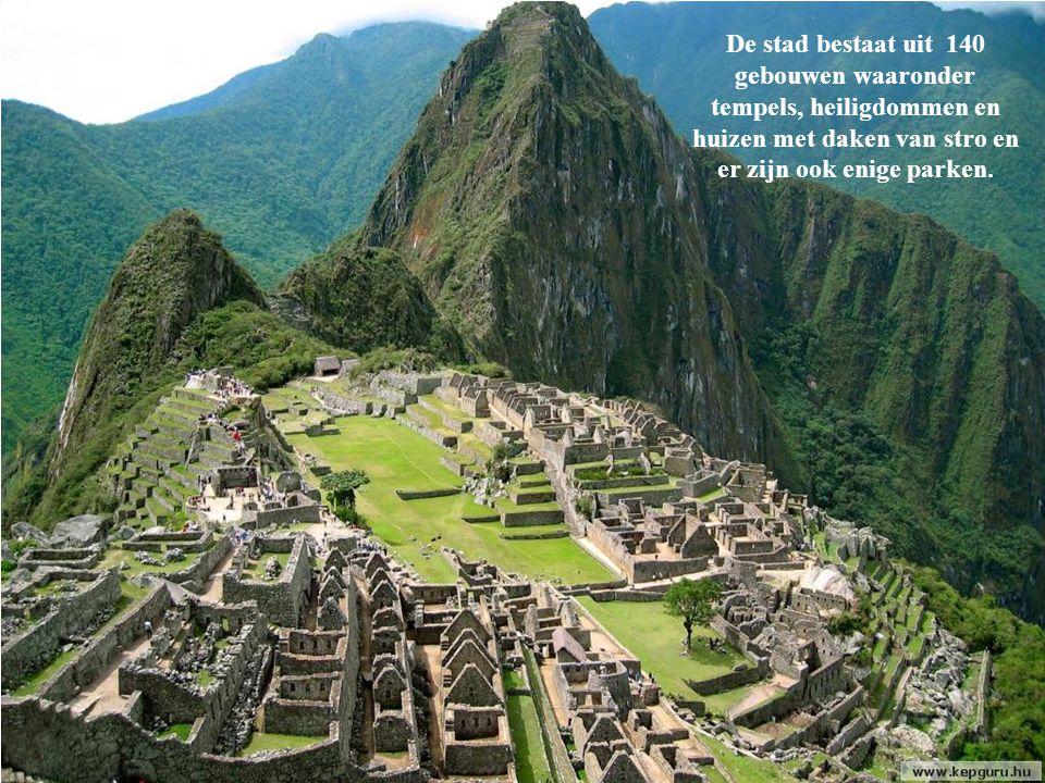 Machu Picchu staat op de lijst van werelderfgoed van UNESCO.