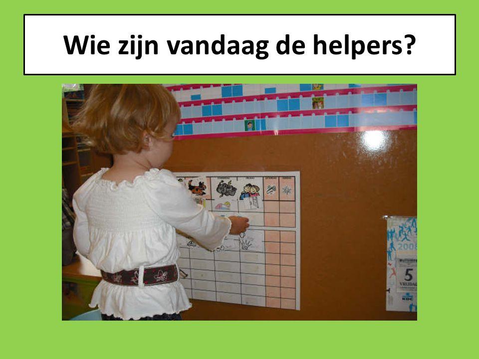 Wie zijn vandaag de helpers?