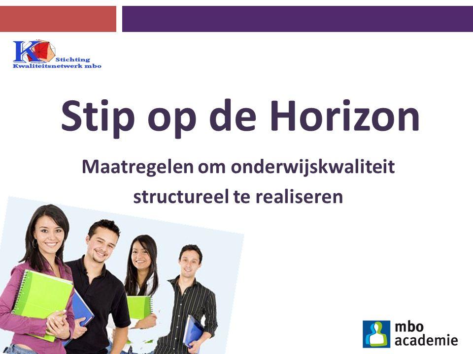 Stip op de Horizon Maatregelen om onderwijskwaliteit structureel te realiseren