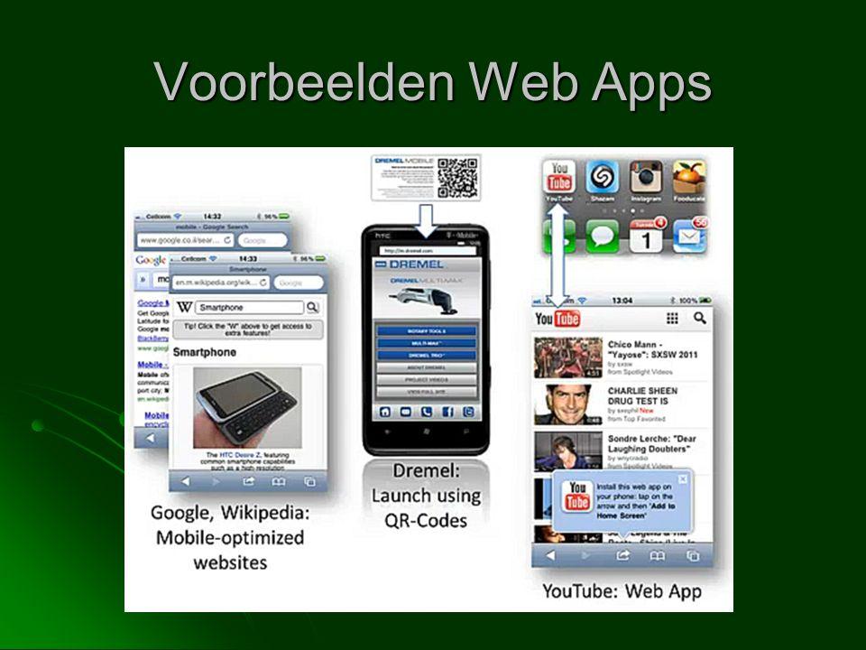 Voorbeelden Web Apps