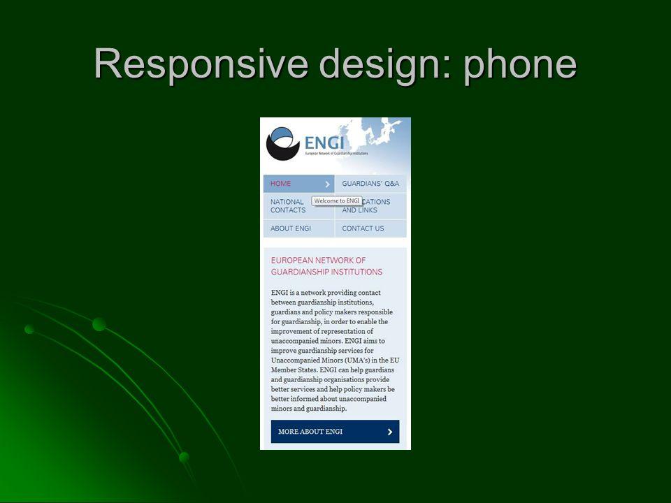 Responsive design: phone