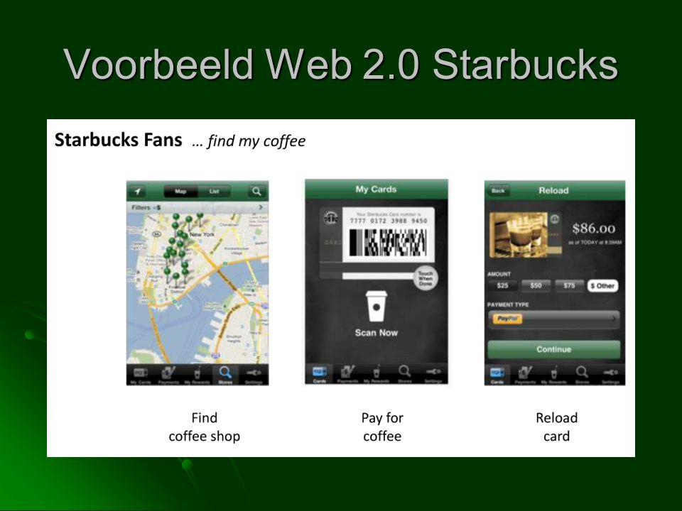 Voorbeeld Web 2.0 Starbucks
