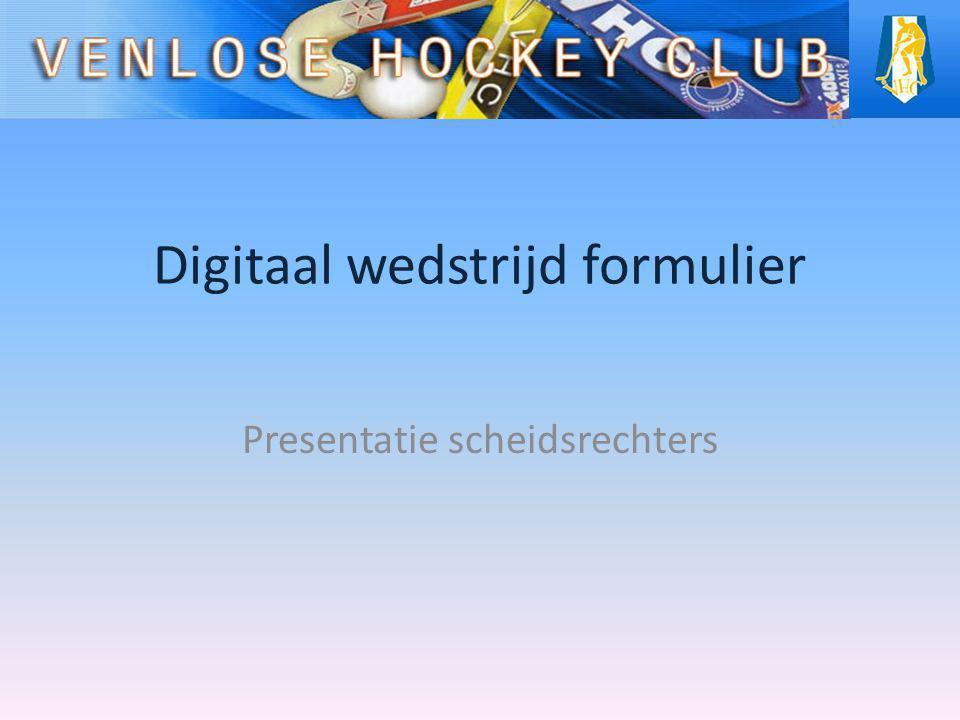 Digitaal wedstrijd formulier Presentatie scheidsrechters