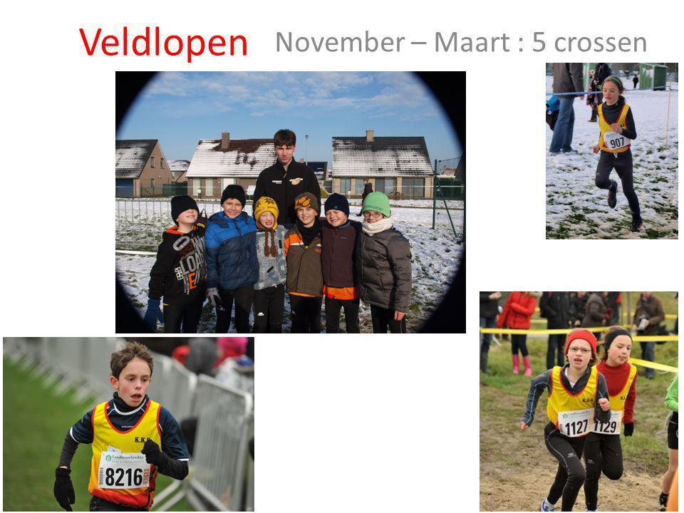 Veldlopen November – Maart : 5 crossen