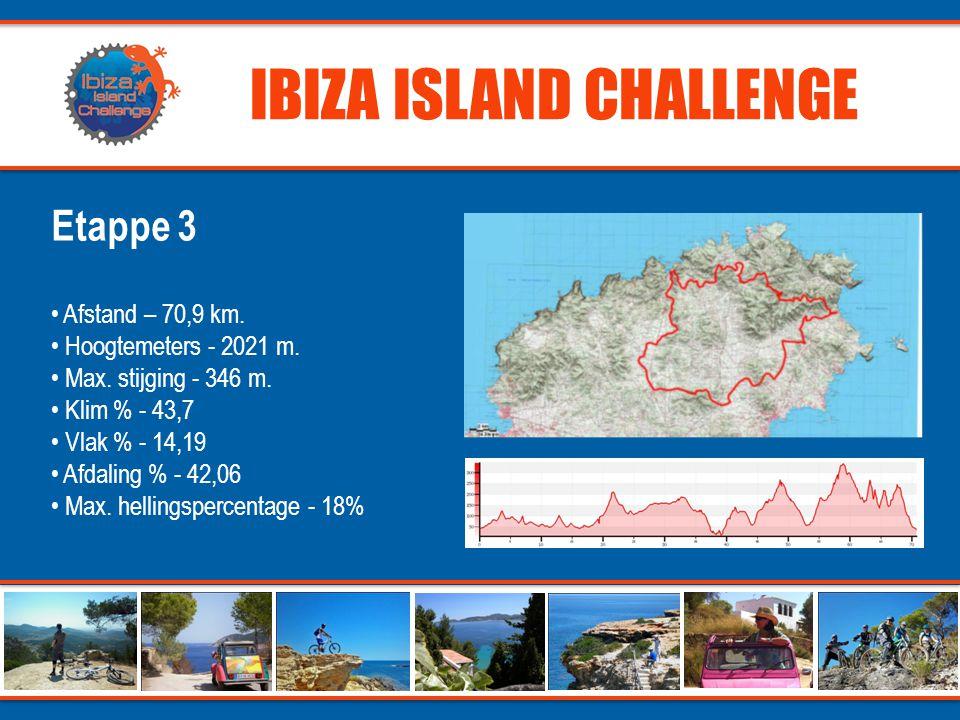 IBIZA ISLAND CHALLENGE Etappe 3 • Afstand – 70,9 km.