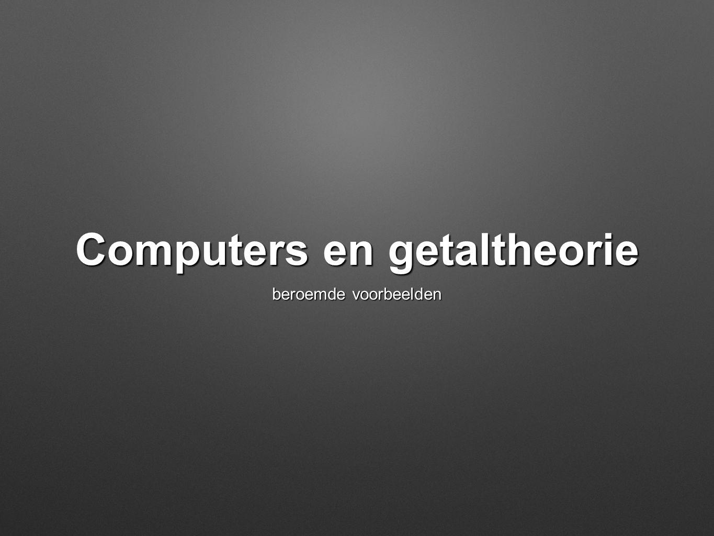 Computers en getaltheorie beroemde voorbeelden