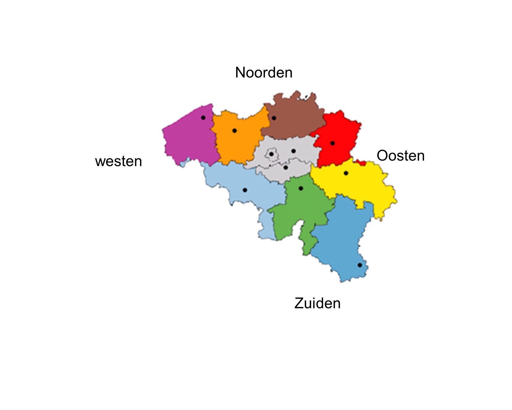 Noorden Oosten Zuiden westen