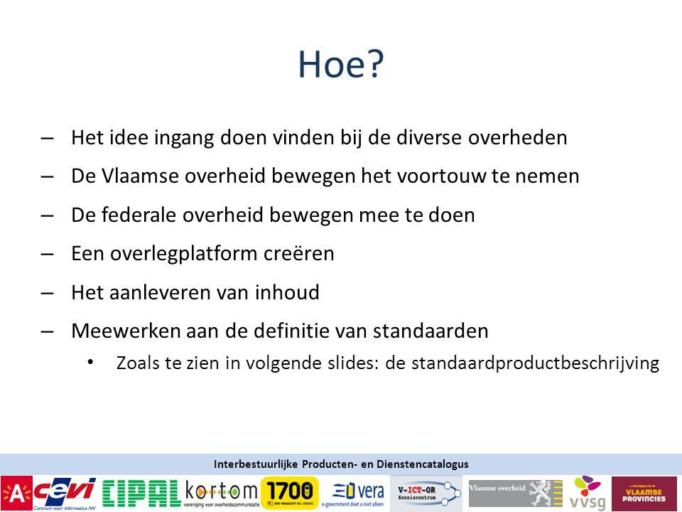 Interbestuurlijke Producten- en Dienstencatalogus Hoe.