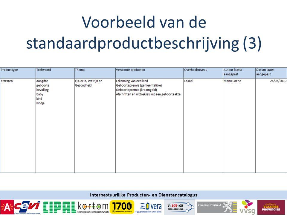Interbestuurlijke Producten- en Dienstencatalogus Voorbeeld van de standaardproductbeschrijving (3)