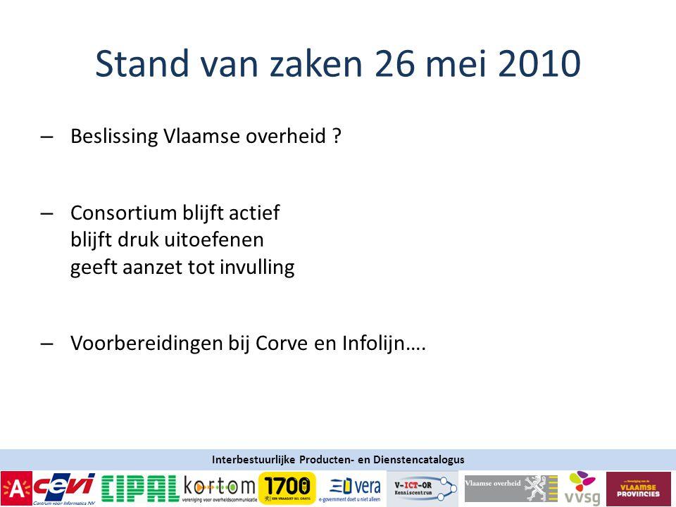 Interbestuurlijke Producten- en Dienstencatalogus – Beslissing Vlaamse overheid .