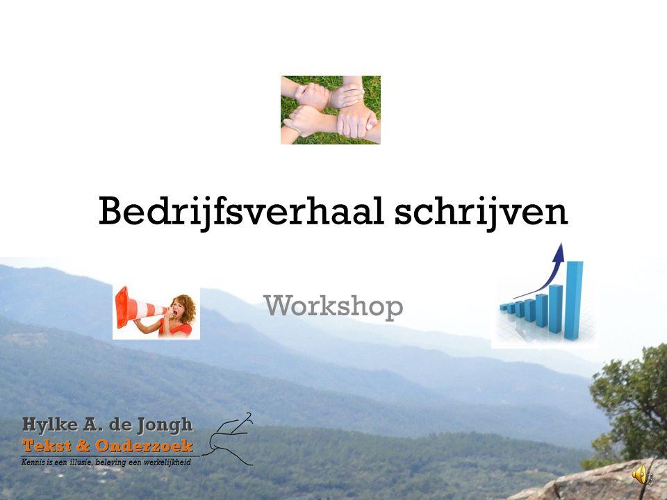 Bedrijfsverhaal schrijven Workshop