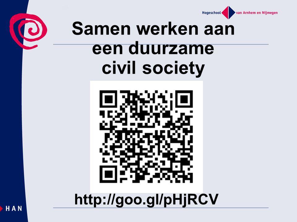 Samen werken aan een duurzame civil society http://goo.gl/pHjRCV