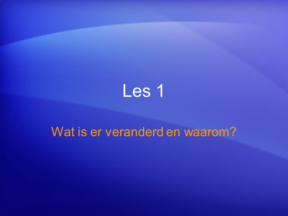 Snel aan de slag Test 2, vraag 2: antwoord Links boven in de hoek van het venster.
